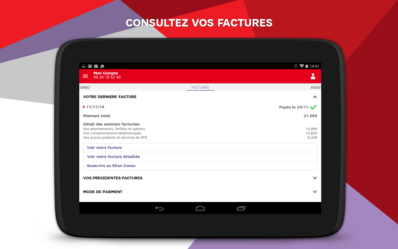 SFR Mon Compte- screenshot