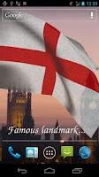Screenshot of 3D England Flag LWP +