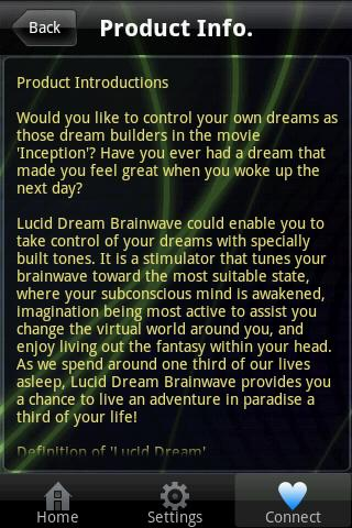 Lucid Dream Brainwave - screenshot