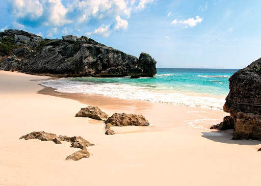 beach-rocks-Bermuda - Bermuda features a wealth of spectacular, uncrowded beaches.
