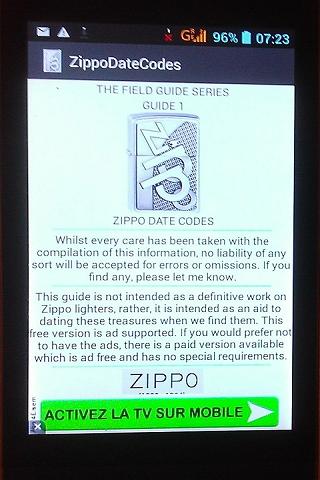 Zippo insert date codes