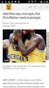 MLive.com: Michigan Hoops News - screenshot thumbnail