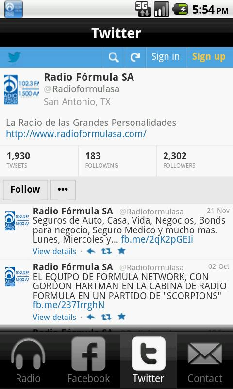 Radio Formula San Antonio- screenshot