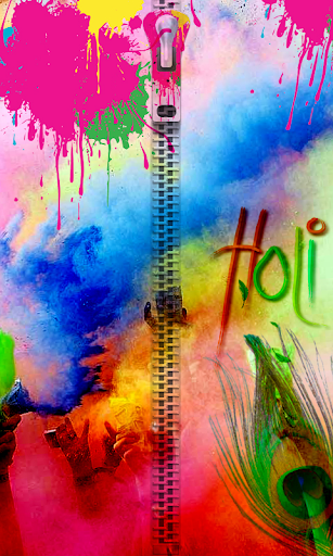 Holi Zip Lock Screen