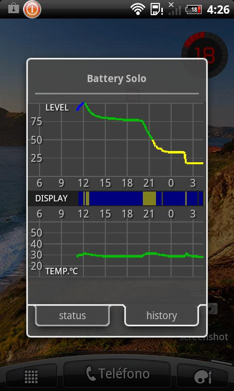 Battery Solo Widget Pro- screenshot