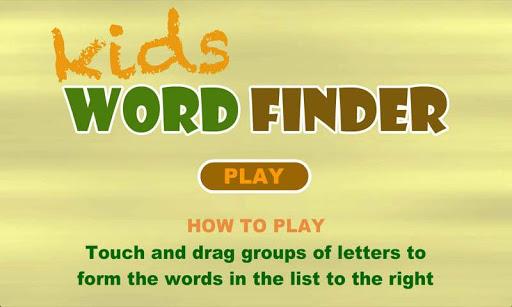 玩免費拼字APP|下載Kids Word Finder Free app不用錢|硬是要APP