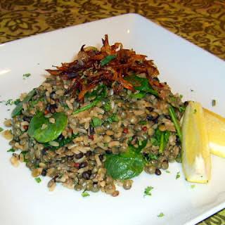 Mujaddara (Lentil & Rice Pilaf).