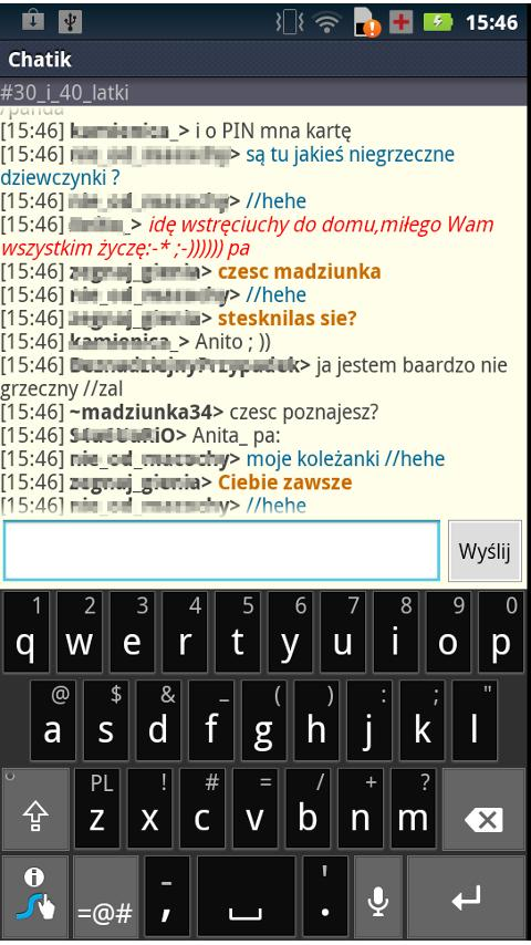 Chatik – zrzut ekranu