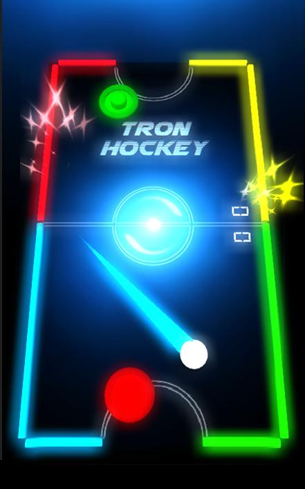 Air Hockey Glow- screenshot