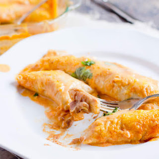 Bean And Cheese Smothered Enchiladas