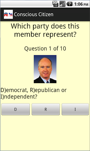Know Your Rep. Quiz game