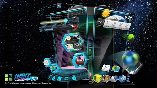 Next Launcher 3D v2.08 APK