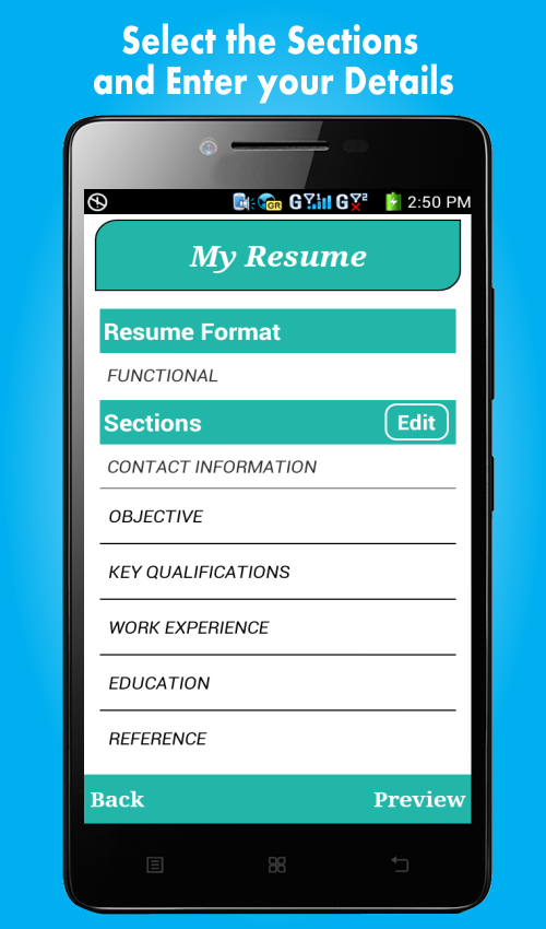 smart resume builder cv free screenshot - Mobile Resume Builder