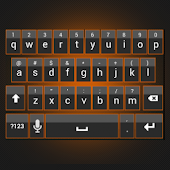 Sleek Orange Keyboard Skin