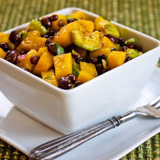 Mango Salad with Black Beans, Avocado, Mint, and Chile-Lime Vinaigrette.