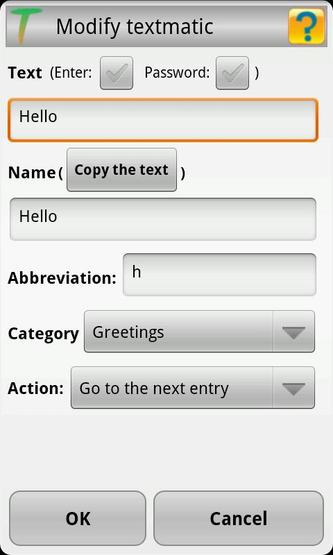 Textmatic Free Keyboard- screenshot