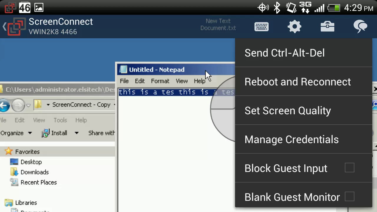 ScreenConnect for Samsung - screenshot