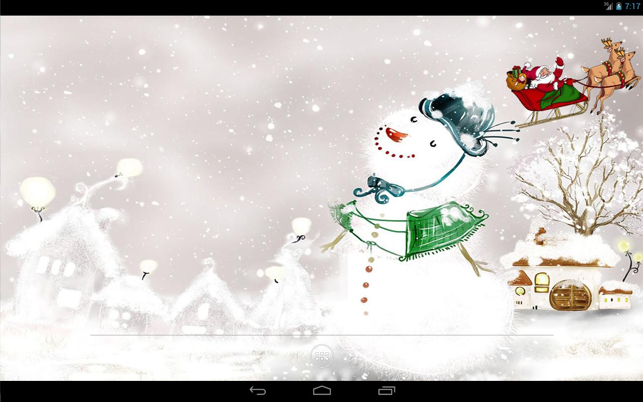 Christmas Snow Live Wallpaper- screenshot