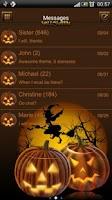 Screenshot of Halloween 2 theme GO SMS Pro