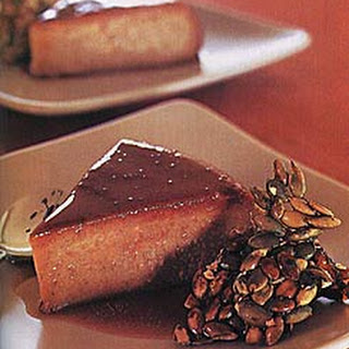 Pumpkin Flan with Pumpkin Seed Praline