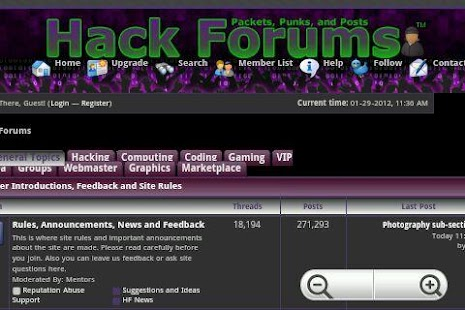 Hack Forums - screenshot thumbnail
