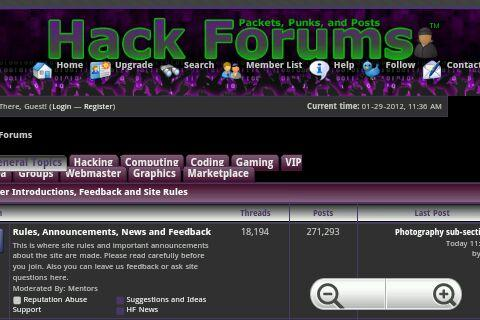 Hack Forums - screenshot