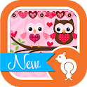 Owls n Love Theme GO SMS icon