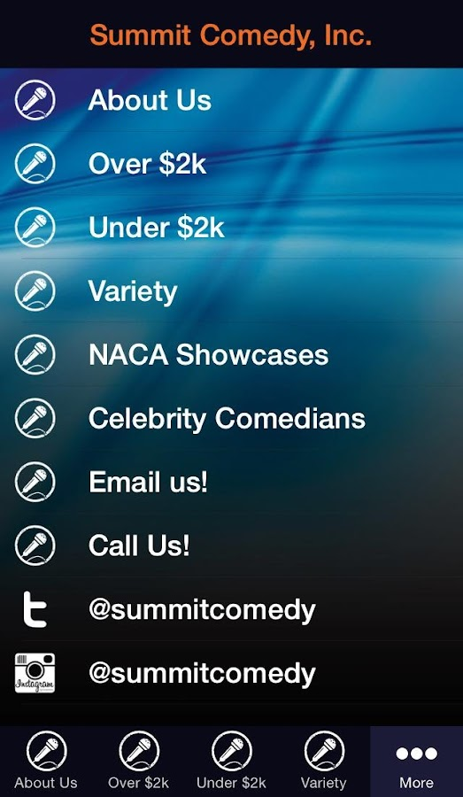 Summit Comedy, Inc.- screenshot