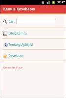 Screenshot of Kamus Kesehatan