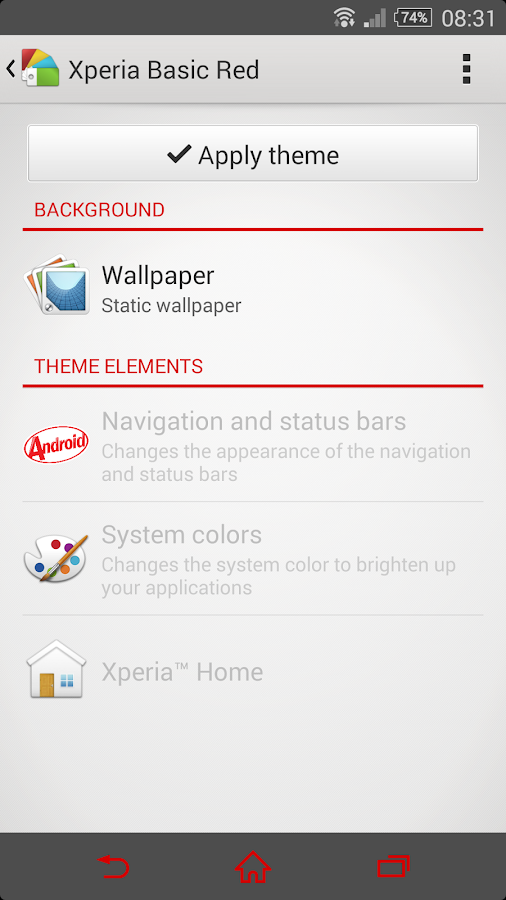 eXpeRianZ™ Theme - Basic Red- screenshot