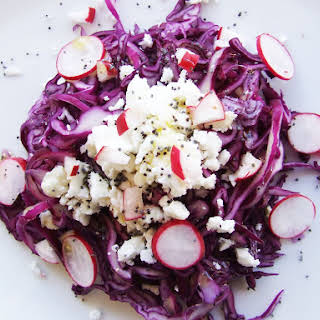 Red Cabbage and Radishes Salad.