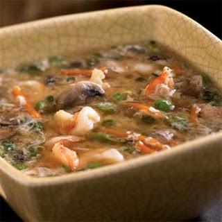 Shrimp and Egg Flower Soup.