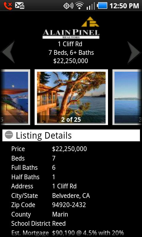 Alain Pinel Realtors - screenshot