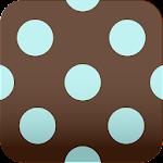 brown polka dots Wallpaper