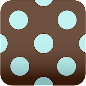 brown polka dots Wallpaper