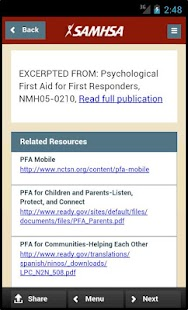 SAMHSA Disaster App- screenshot thumbnail