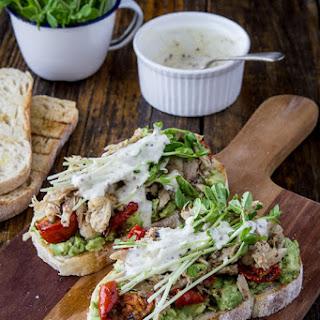 Chicken & Avocado Sandwich with Snow Pea Sprouts & Semi-Dried Tomatoes Recipe