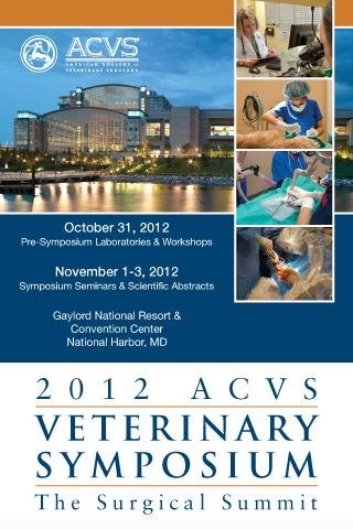 2012 ACVS Veterinary Symposium - screenshot