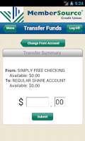 Screenshot of MemberSource Credit Union
