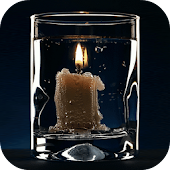 Burning Candle Live Wallpaper