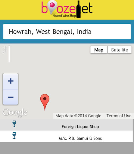 Find nearest Liqour Shop