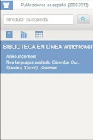 Screenshot of Watchtower Library 2014