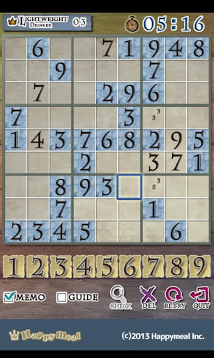 Number place-Tiddly Games