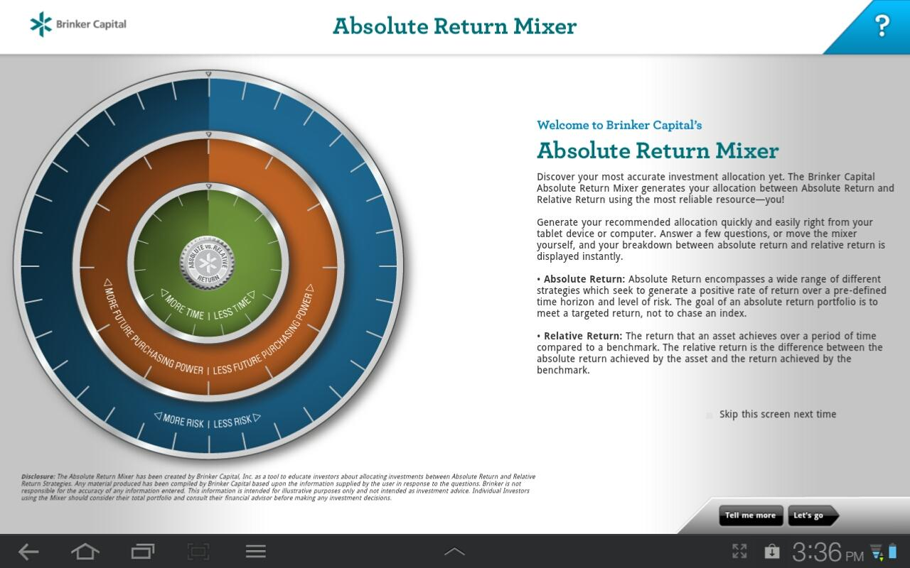 Absolute Return Mixer - screenshot