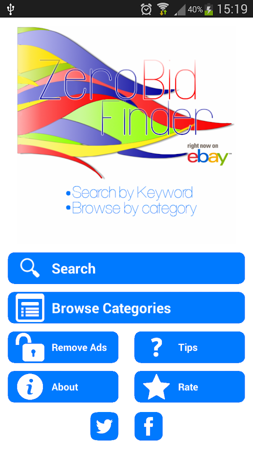 eBay Zero Bid Finder FREE- screenshot