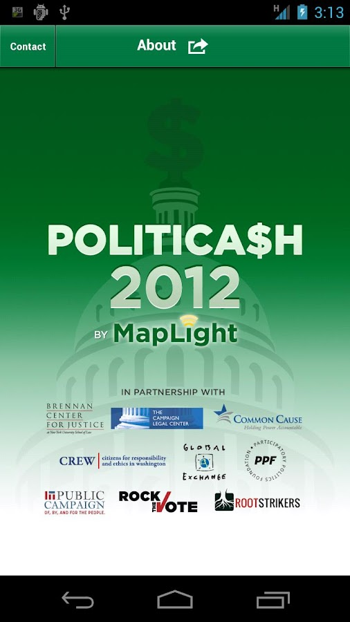 Politicash 2012 - screenshot