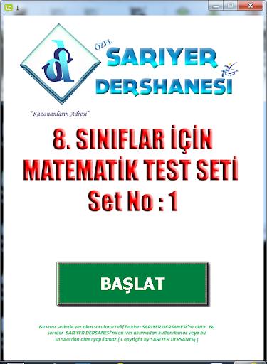 SARIYER MATEMATİK TEST NO 1