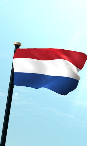 Netherlands Flag 3D Wallpaper