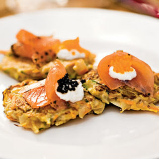 Tricolor Vegetable Latkes.