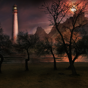 Haunted Island Matte Painting by Muhammad Habib Ul Haque - Digital Art Places ( fantasy, explore, digital manipulation, islands, painting, photoshop,  )